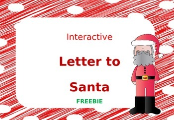 Interactive Letter to Santa Fun Writing Activity