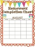 Homework chart and assignment log