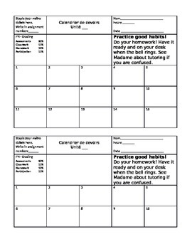 Homework collecting template