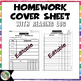 Homework Cover Sheet with Reading Log (Editable)