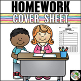 Homework Cover Sheet with Reading Log - Editable (Back to