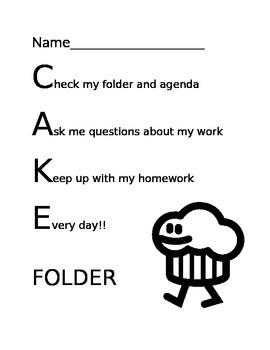 Homework folder