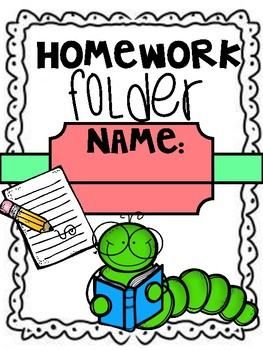 Homework communication cover sheet (worm design) back to school