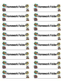 Homework folder labels
