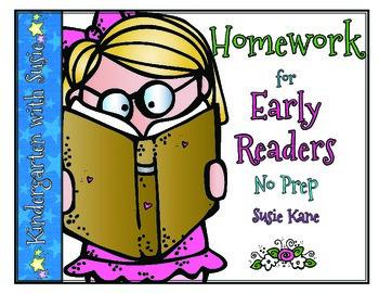 Homework for Emergent Readers No Prep