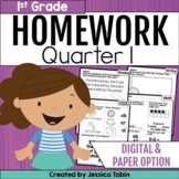 First Grade Homework- 1st Quarter