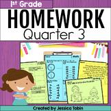 Homework First Grade 3rd Quarter- Spiral Review Packets
