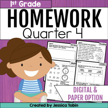 Homework First Grade- 4th Quarter