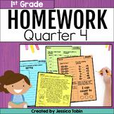 Homework First Grade- 4th Quarter Spiral Review Packet