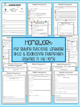 Homework for Functional Language Skills & Independent Routines in the Home