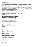 Homework for January - Kindergarten