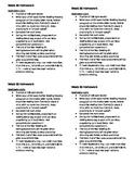 Homework for Kindergarten Week 30