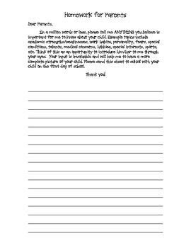 Homework for Parents
