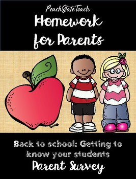 Homework for Parents - Back to School Get to Know Students Survey