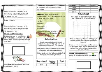 Homework for Queensland Year 2 Unit 2