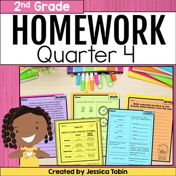 Homework Second Grade- 4th Quarter