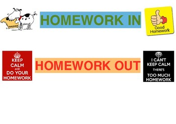 Homework in and out signs