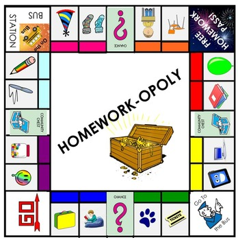 Homework-opoly: The Perfect Homework Incentive Game!