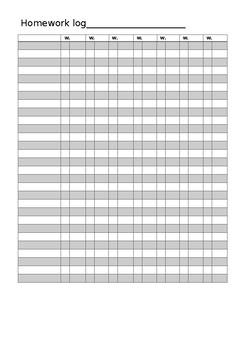 Homework or assessement result log