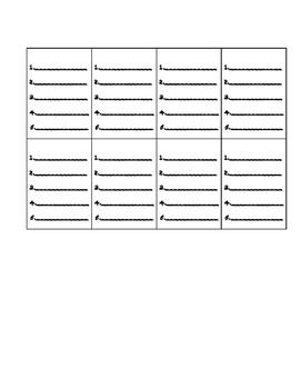 Homework packet Vocab/spelling
