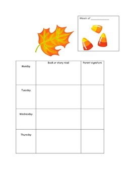 Homework packet covers-reading logs through the seasons