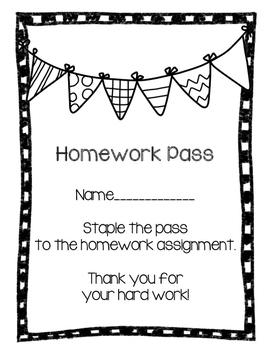 Homework pass!