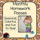 Monthly Homework Passes