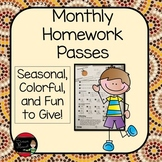 Homework Passes for All Year