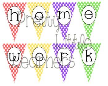 Homework Pennant Banner