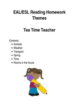 Homework reading weekly EAL/ESL