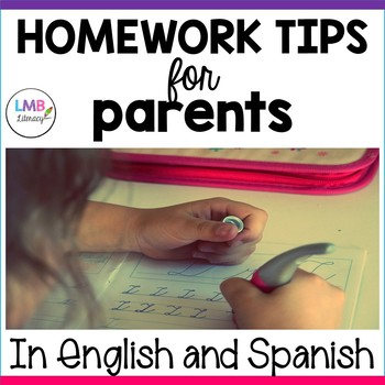 Homework tips for parents!  In English and Spanish! *Parent Connections*