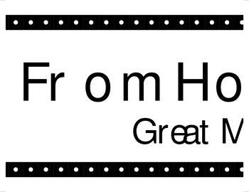 Homework to Hollywood Bulletin Board Printables