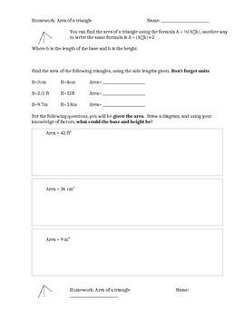 Homework with formulas