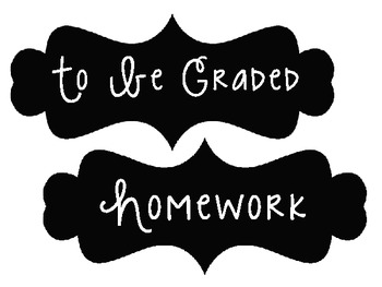 Homework/To Be Graded Labels