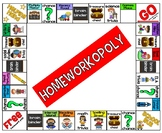 Homeworkopoly Board For Students {EDITABLE!!!}