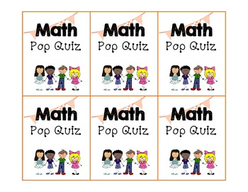 Homeworkopoly Math Pop Quiz Task Cards (5.NBT.2)