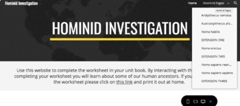 Homind Investigation Webquest
