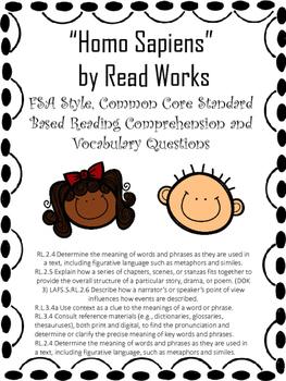 Homo Sapiens Comprehension and Vocabulary