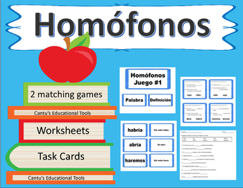Homofonos - Homophones - Spanish