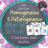 Homogeneous and Heterogeneous Mixtures Card Sorting Activity