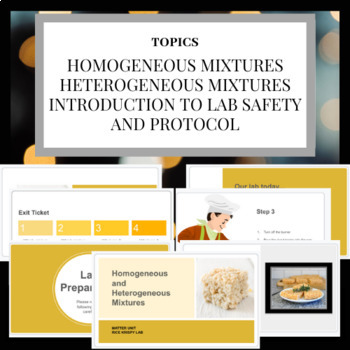 Homogenous and Heterogenous Mixture- Rice Krispy Bar Activity