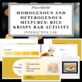Homogenous and Heterogenous Mixture- Rice Krispy Bar Activity