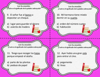 Homografos - Homographs - Spanish