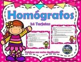Homógrafos SPANISH Task Cards – Destreza del Diccionario