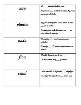 Homografos / Spanish Homographs
