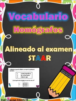Homografos palabras con multiples significados/ Multiple Meaning Words