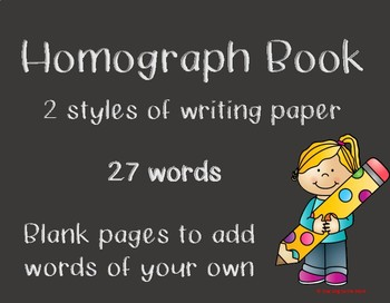 Homograph Book Pack - Class or Individual Book