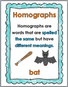 Homographs Puzzles, Printables, Interactive Flap Book, and Poster