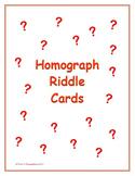Homograph Riddle Cards