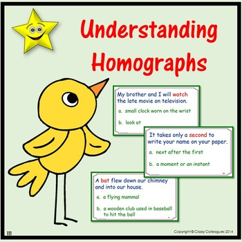 Homographs Review and Test Prep